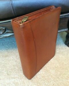 Franklin Quest Covey Classic Brown Full Grain Aniline Leather Planner Binder