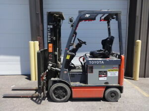 2013 Toyota 8fbcu25 5 000 Pound Electric Forklift With Good 2017 Battery