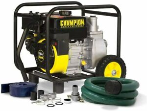 2 inch Gas powered Semi trash Water Transfer Pump With Hose And Wheel