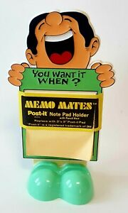 Vintage Eberhard Faber Memo Mates Post it Note Pad Holder With Pencil Rest 1986