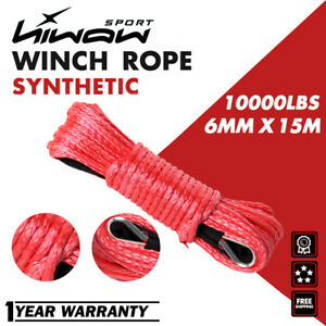 1 4 X 50 7500lbs Synthetic Winch Line Cable Rope With Sheath Atv Utv Red Ce