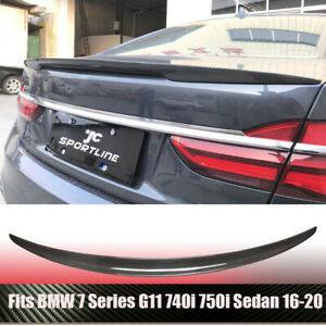 Rear Trunk Spoiler Boot Wing Carbon Fiber Fit For Bmw 7series 740i 750i 16 18