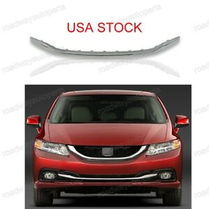 Front Bumper Lower Grille Grill Moulding Trim For Honda Civic 2013 2015
