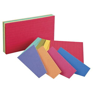 Oxford Ruled Index Cards 3 X 5 Inches Assorted Extreme Colors Pack Of 100