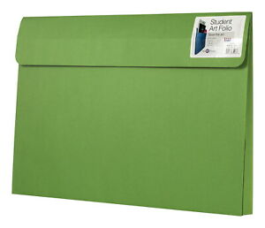 Star Products Student Art Folio 12 X 18 X 2 Inches Green Pack Of 25