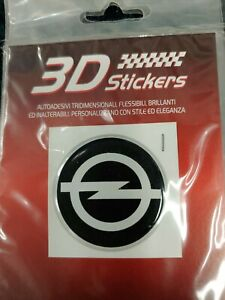 3d Sticker Opel Sport Car 47mm Dia Round High Quality Italian Made Resin