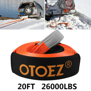 20ft Recovery Winch Strap Tree Saver Emergency Tow Rope 12 Tons Ultra Heavy Duty