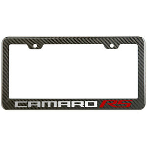 Camaro Rs Chevy License Plate Frame Carbon Fiber Look Style Glossy Plastic