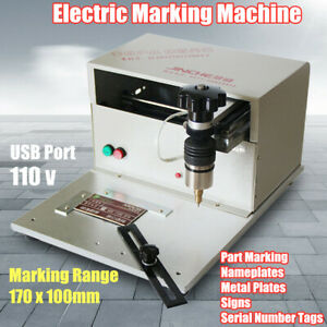110v Table Electric Marking Machine Nameplate Metal Plate Sign Engraving Machine