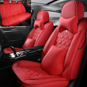 5 sits Car Seat Covers Leather Universal Full Set For Suv Truck Sedan Waterproof