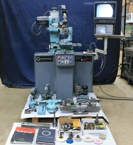 Deckel S11 Isog 2000 Microscope With Video System Tool Cutter Grinder Radi