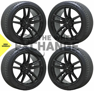 20x11 Ford Mustang Gt500 Gloss Black Wheels Rims Tires Factory Oem Set 2020 2021