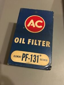 Vintage Nos Ac Pf 131 5573976 Triple Trapper Oil Filter And Box New