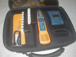 Fluke Networks Linkrunner Network Tester W Id Pin Kit Tested Working Good F s