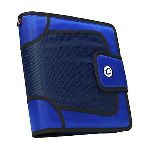 Case it The Open Tab Binder With Tab File O ring 2 Inches Blue