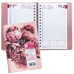 2021 Brownline Cb634w pnk Pink Daily Planner 8 X 5