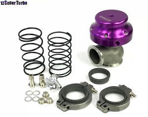 New 38mm V Band Turbo Actuator Wastegate Adjustable Springs V6 V8 Motor Purple