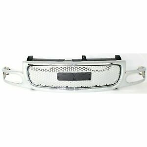 New Grille Chrome Shell And Insert Fits Gmc Sierra 1500 2001 2007 Gm1200510