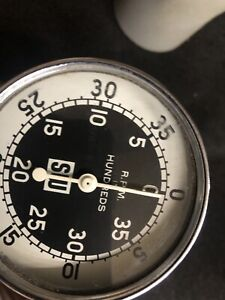 Stewart Warner Hand Held Tachometer Rpm Guage Tested And Works Good