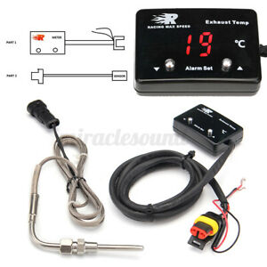 Digital Car Exhaust Gas Temp Gauge Led Pointer Egt Temperature Meter D