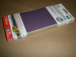 3m 120 Grit Premium Automotive Auto Body Block Sanding Sandpaper 25 Sheets