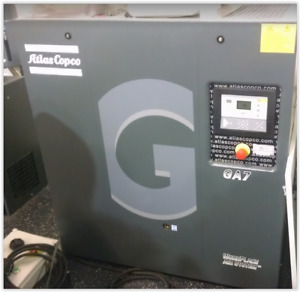 10hp Ga7 Atlas Copco Rotary Screw Air Compressor Refrigerated Dryer 240 Gallon