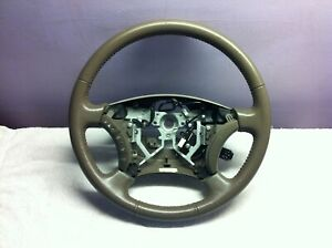 05 06 07 Toyota Sequoia Tundra Steering Wheel Assembly Tan Leather Cruise Audio