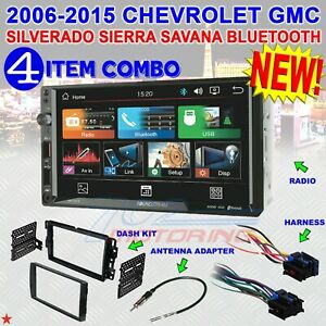 2006 2015 Chevrolet Gmc Silverado Sierra Savana 2 Din Usb Bluetooth Car Stereo