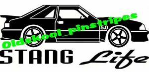 Ford Mustang Shelby Gt Fox Body Fast Back Notch 5 0 Nos Vinyl Decal Sticker