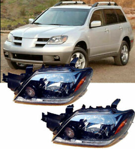 For Mitsubishi Outlander 2003 2005 Front Head Lamp Headlights Assembly 1 Pair