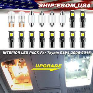 Us Led Light For Toyota Rav4 2006 2020 Interior Lights Dome Bulbs Package 16pc