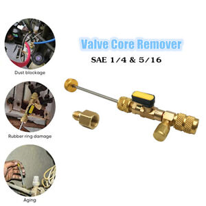 Valve Core Remover Installer Tool With Dual Size Sae 1 4 5 16 Port Remover