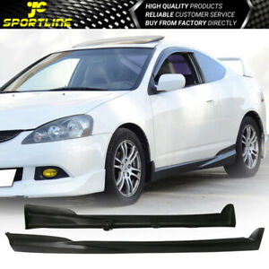 Fits 02 06 Acura Rsx Mugen Style Side Skirts Skirt Black Pu