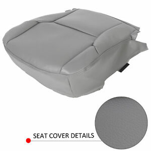 Driver Bottom Synth Leather Seat Cover Gray For 2003 2009 Toyota 4runner Limited