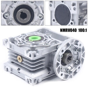 100 1 Worm Gearbox Speed Gear Reducer Nmrv040 Reduction 63b14 For Stepper Motor