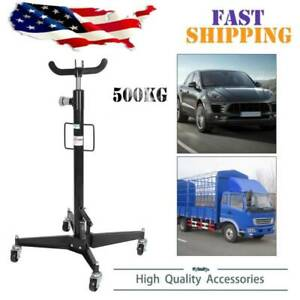 1100lbs 360 2 Stage Hydraulic Transmission Jack Stand Lifter Hoist For Car Lift