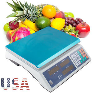 66lb Digital Deli Food Computing Retail Price Scale Fruit Produce Counting Best