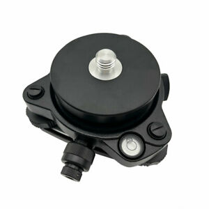 Black Tribrach With Optical Plummet rotating Adapter Carrier With 5 8 x11 Thread