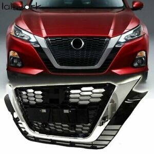 For 2019 2020 Nissan Altima Front Upper Grill Chrome Black Factory Style Grille