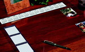 House Of Doolittle Vinyl Heavy Gauge Desk Protector With Reference Calendars And