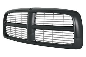 New Black And Chrome Grille For 2002 2005 Dodge Ram Ch1200259 Ships Today
