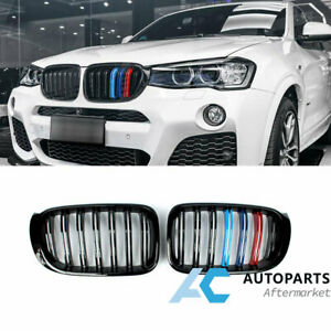 3 color Dual Slats Front Kidney Grille For Bmw X3 X4 F25 Facelift 15 17