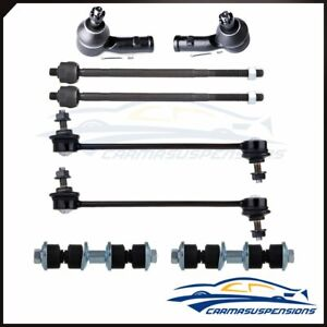 For 2000 2006 Ford Focus Suspension 8pcs Front rear Sway Bars Tie Rod Ends Kit