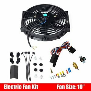 10 Universal Electric Radiator Cooling Fan 12v Thermostat Relay