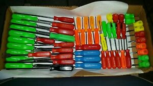 Mac Tools Usa Red Green Yellow Orange Used Nos Stubby Screwdrivers Choose