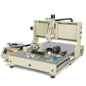 Usb 3 4axis Cnc 3040 6040 6090 Router Engraver Engraving Machine Mill Drill Us