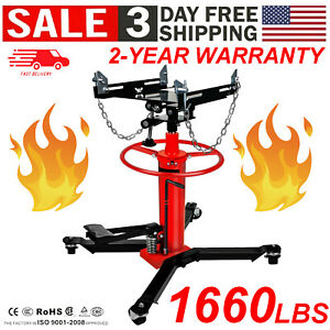 A 1660lbs 0 75 Ton Transmission Jack 2 Stage Hydraulic W 360 For Car Auto Lift