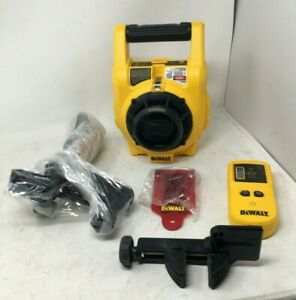 Dewalt dw074 150 Ft Red Rotary Laser Level With Detector Wall Mount Bag