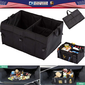 Trunk Cargo Organizer Folding Storage Collapse Bag Box Case For Car Truck Rv Suv