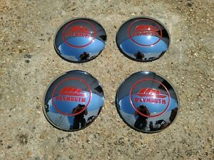 1946 1947 1948 Plymouth Set Of Four 10 Hub Caps 46 47 48 Brand New Parts P15